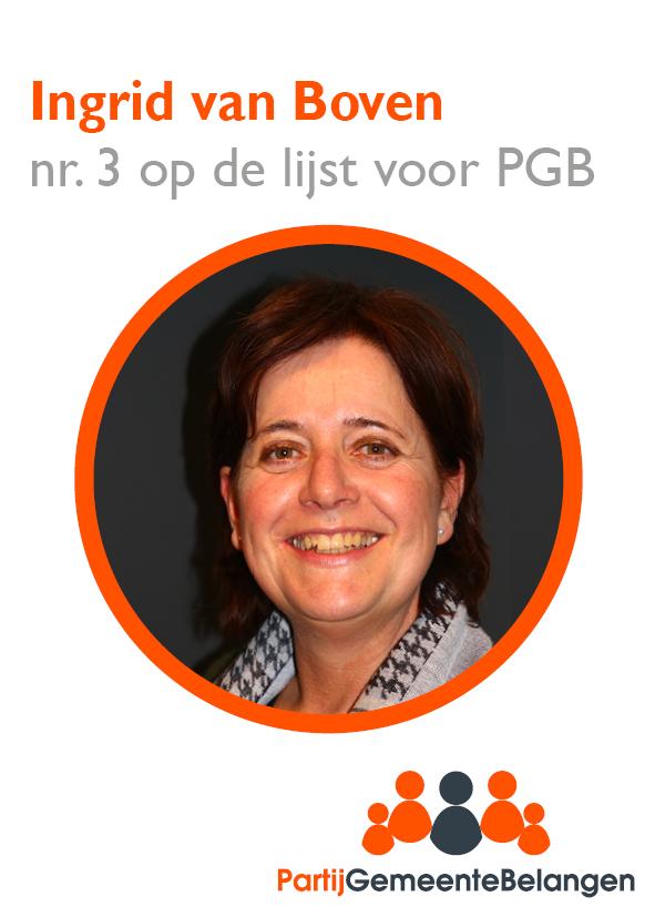 Kandidaten kieslijst stellen zich voor: Ingrid van Boven uit Oisterwijk