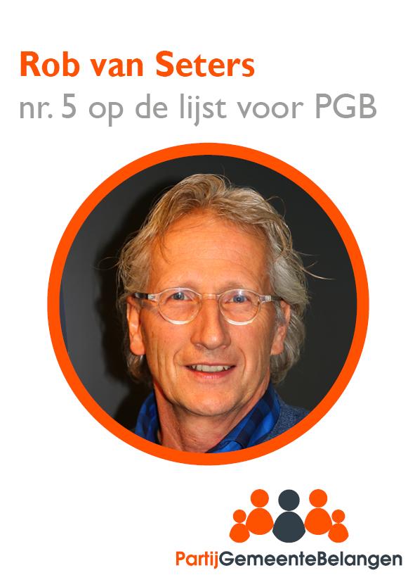 Kandidaten kieslijst stellen zich voor: Rob van Seters