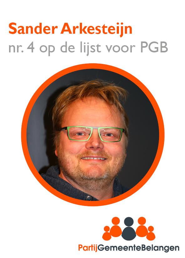 Kandidaten kieslijst stellen zich voor: Sander Arkesteijn