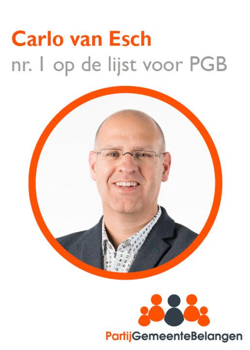 Last but not least, onze lijsttrekker Carlo van Esch uit Moergestel stelt zich voor