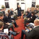 PGB-raadslid Marieke Moorman leidde het raadsforum over de Gebiedsvisie bedrijventerrein noordzijde Nijverheidsweg en omgeving © Tom Tacken