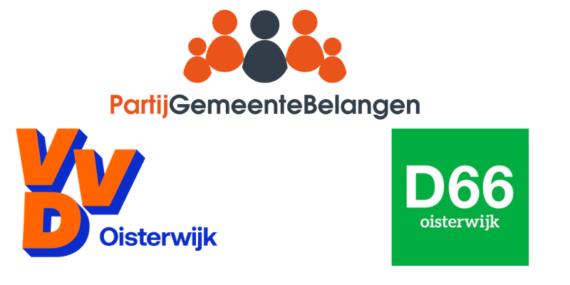 Oisterwijkse coalitie PGB, VVD en D66 rond